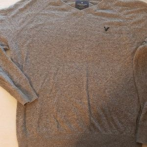 Gently used mens gray American Eagle sweater